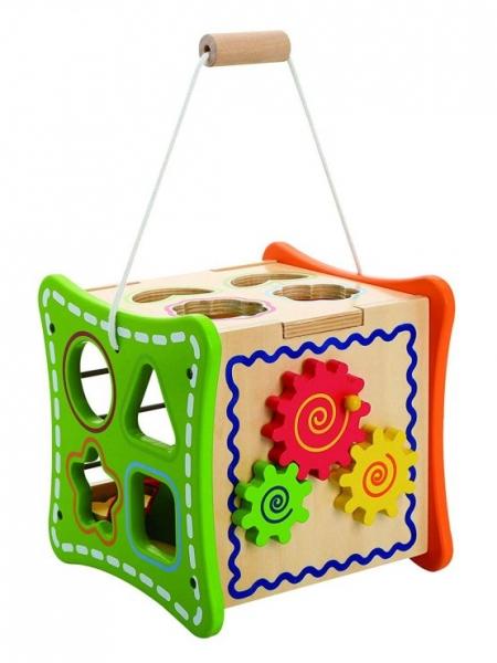 Cub educativ cu activitati 5 in 1 cu sunur pentru transport 0