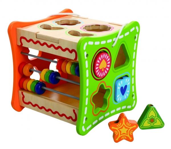Cub educativ cu activitati 5 in 1 cu sunur pentru transport 1