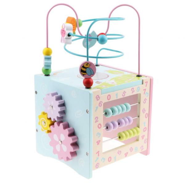 Cub multifunctionala din lemn 6 in 1 Iepurasul si Broscuta Msn 6