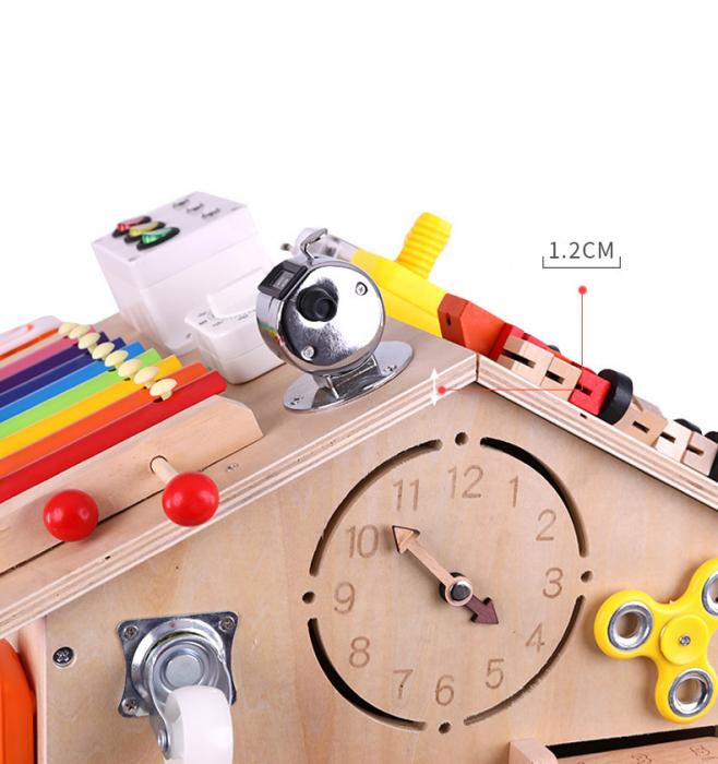 Cub cu Activitatii Montessori din Lemn Inchizatori Casuta cu Jocuri [9]