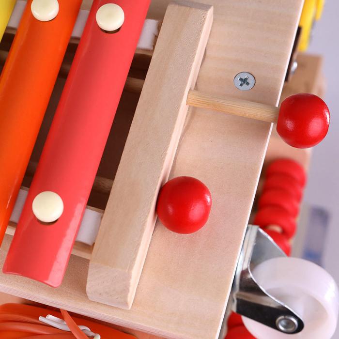 Cub cu Activitatii Montessori din Lemn Inchizatori Casuta cu Jocuri [1]