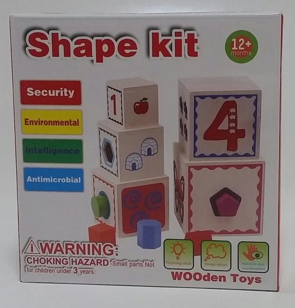 Turn Cuburi din Lemn - Set Cuburi din Lemn Montessori 4
