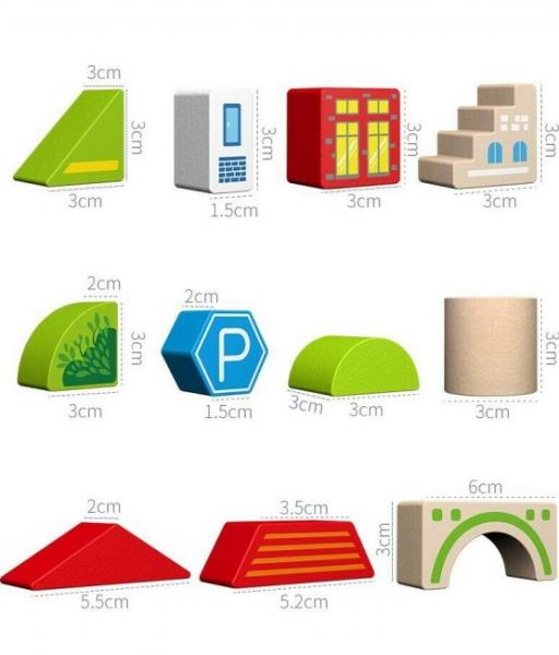 Cuburi din Lemn de Construit Animale 120 piese - Blocuri din Lemn de Constructie 120 piese 13