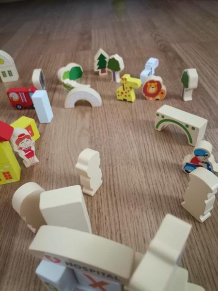 Cuburi din Lemn de Construit Animale 120 piese - Blocuri din Lemn de Constructie 120 piese 10