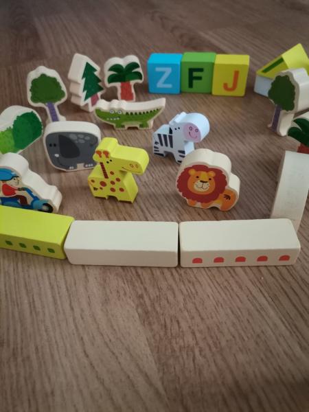 Cuburi din Lemn de Construit Animale 120 piese - Blocuri din Lemn de Constructie 120 piese 4