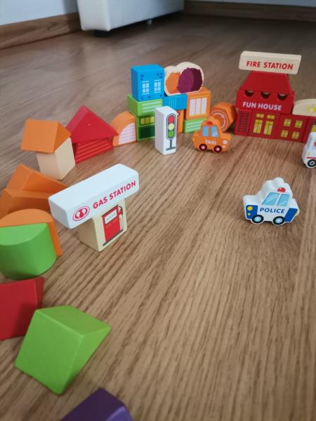 Cuburi din Lemn de Construit Animale 120 piese - Blocuri din Lemn de Constructie 120 piese 7