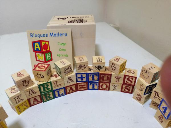 Cuburi lemn Abc Litere si imagini 2