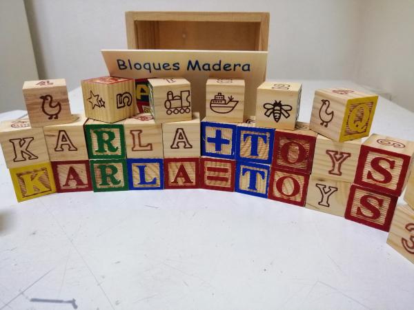 Cuburi lemn Abc Litere si imagini 3