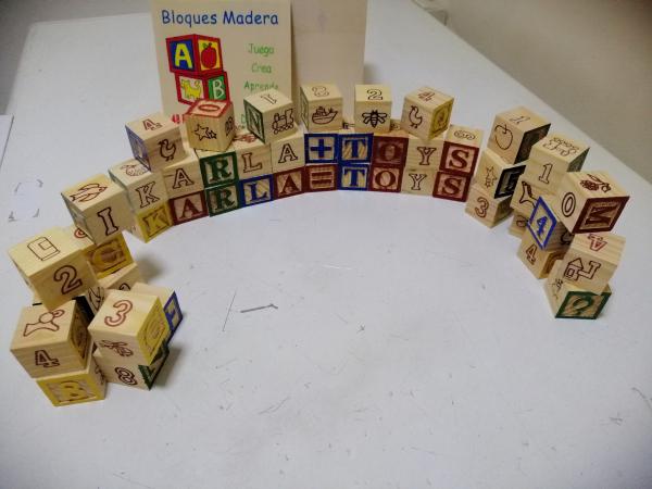 Cuburi lemn Abc Litere si imagini 4