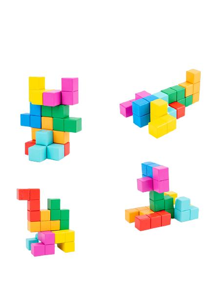 Cuburi lemn de construit 3D 5