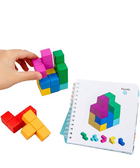 Cuburi lemn de construit 3D 6