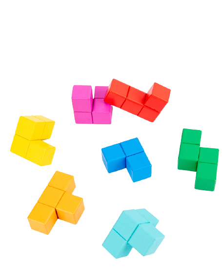 Cuburi lemn de construit 3D 7