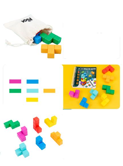 Cuburi lemn de construit 3D 8