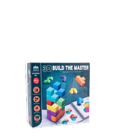 Cuburi lemn de construit 3D 9