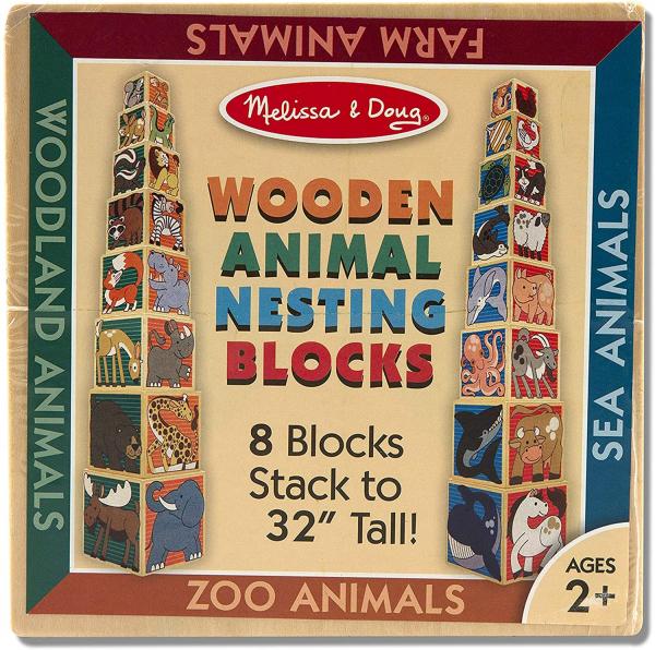 Cuburi din Lemn Animal Nesting Melissa and Doug 8 cuburi 1
