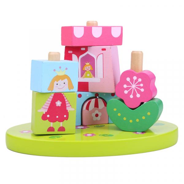 Cuburi lemn constructie Castelul princesei 0