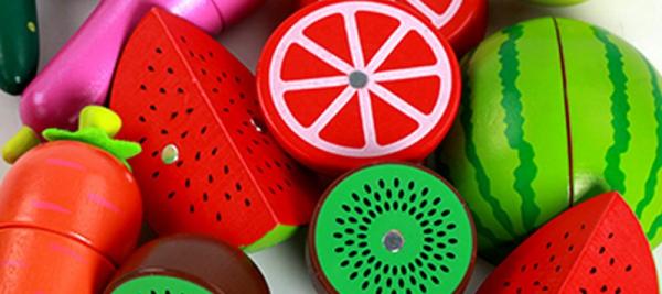Set de legume si fructe de feliat cu magnet cu cutie 2