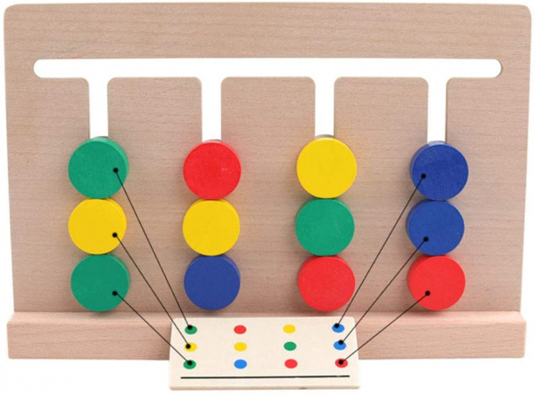 Joc Lemn Asociere Color Match 3
