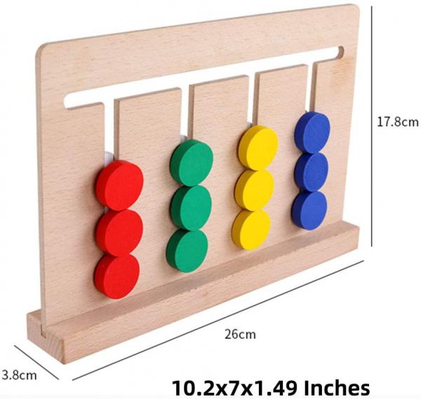 Joc Lemn Asociere Color Match 8