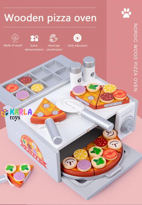 Cuptor de Pizza din Lemn cu Accesorii [1]
