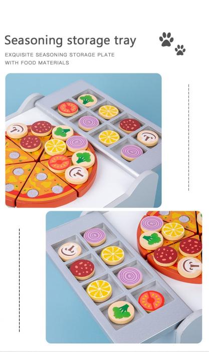 Cuptor de Pizza din Lemn cu Accesorii [8]