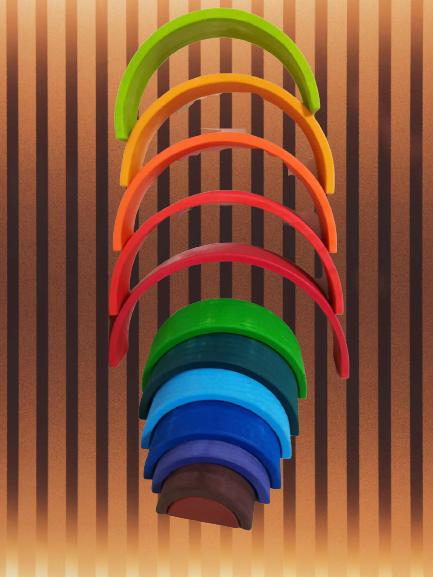 Curcubeu Mare din lemn 12 piese 13