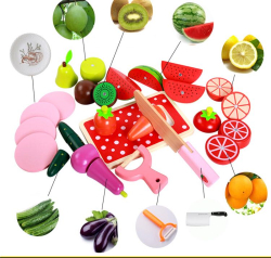 Set de legume si fructe de feliat cu magnet cu cutie 3
