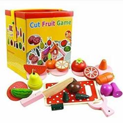 Set de legume si fructe de feliat cu magnet cu cutie 0