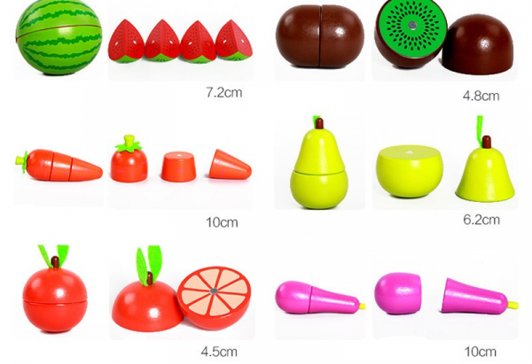 Set de legume si fructe de feliat cu magnet cu cutie 5