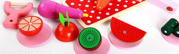 Set de legume si fructe de feliat cu magnet cu cutie 8