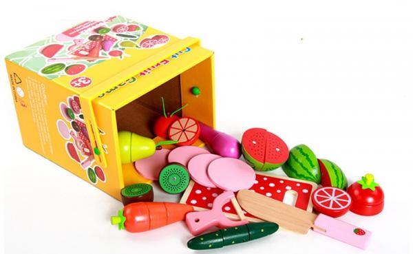 Set de legume si fructe de feliat cu magnet cu cutie 1