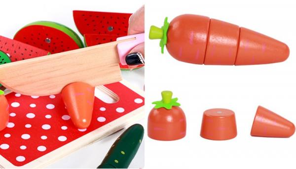 Set de legume si fructe de feliat cu magnet cu cutie 4