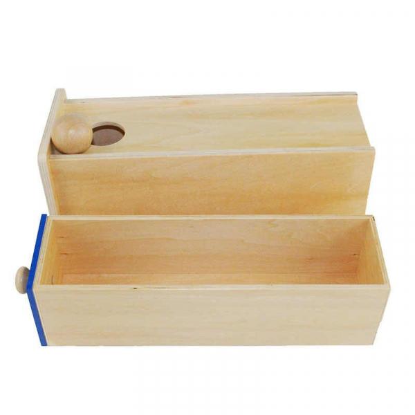 Joc Lemn Montessori Cutia Permanentei cu sertar. 1