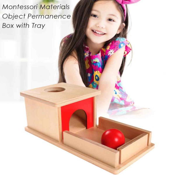 Joc de Lemn Montessori Cutia Permanentei cu bila 0