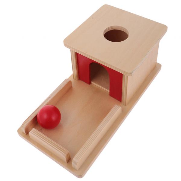 Joc de Lemn Montessori Cutia Permanentei cu bila 3