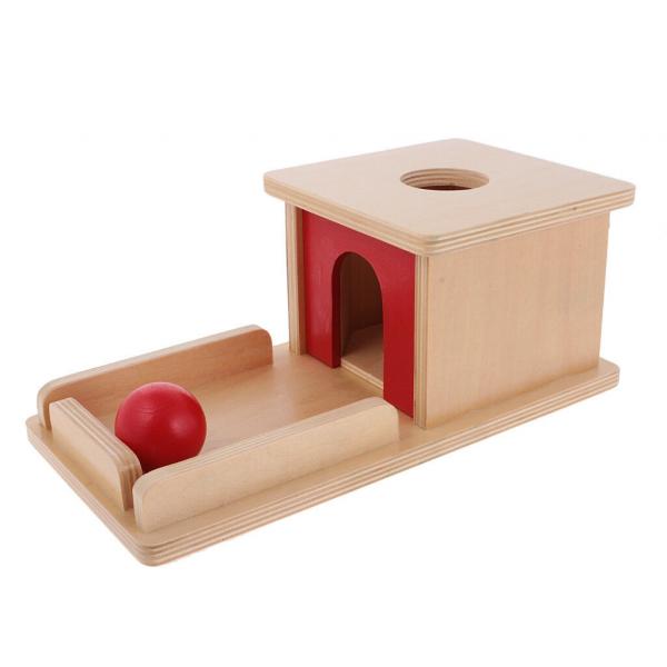 Joc de Lemn Montessori Cutia Permanentei cu bila 4
