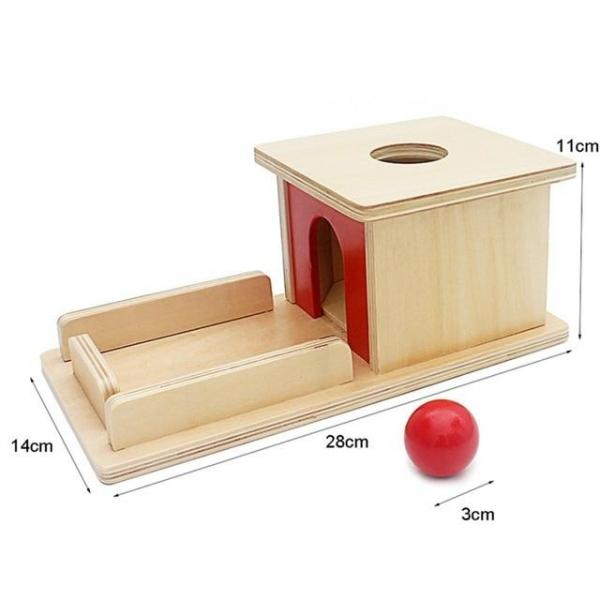 Joc de Lemn Montessori Cutia Permanentei cu bila 5