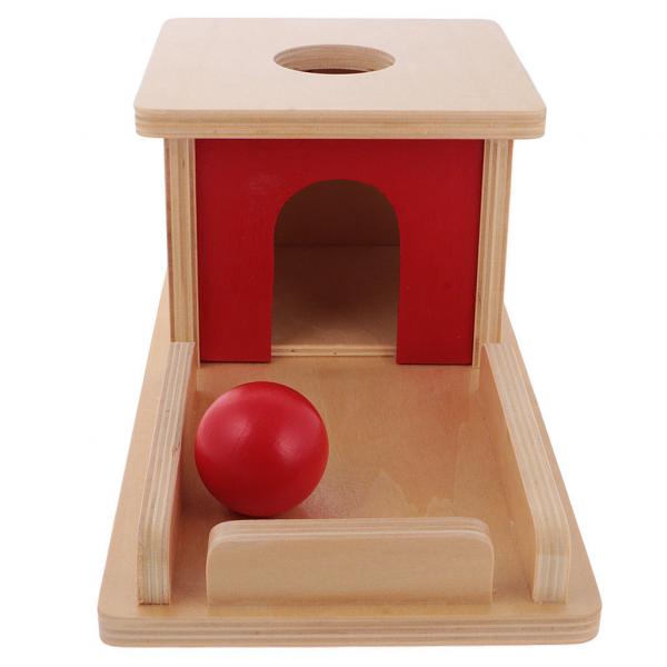 Joc de Lemn Montessori Cutia Permanentei cu bila 1