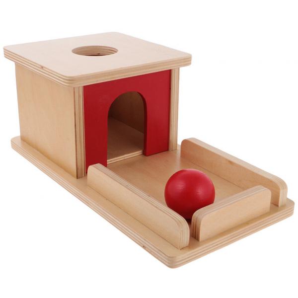 Joc de Lemn Montessori Cutia Permanentei cu bila 2
