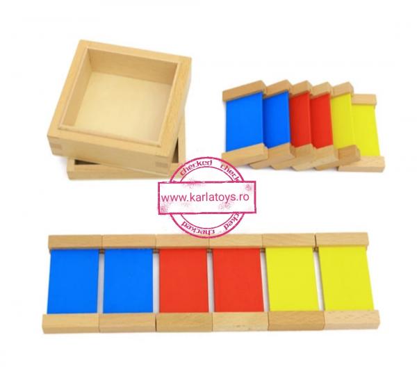Cutie de Culori Montessori  din Lemn - Tablete Multicolore 2