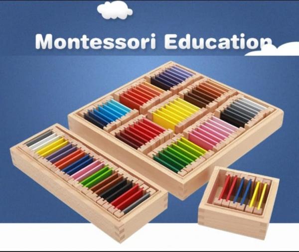 Cutie de Culori Montessori  din Lemn - Tablete Multicolore 9