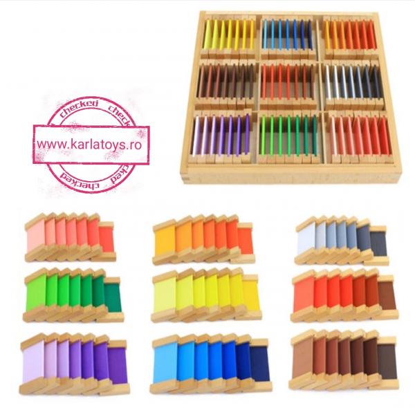 Cutie de Culori Montessori  din Lemn - Tablete Multicolore 1