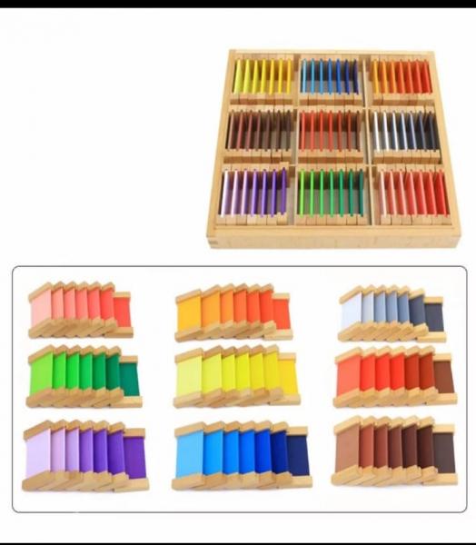 Cutie de Culori Montessori  din Lemn - Tablete Multicolore 10
