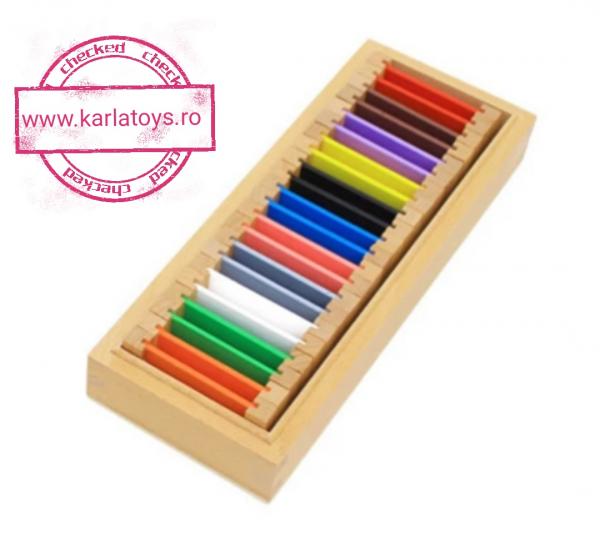 Cutie de Culori Montessori  din Lemn - Tablete Multicolore 3