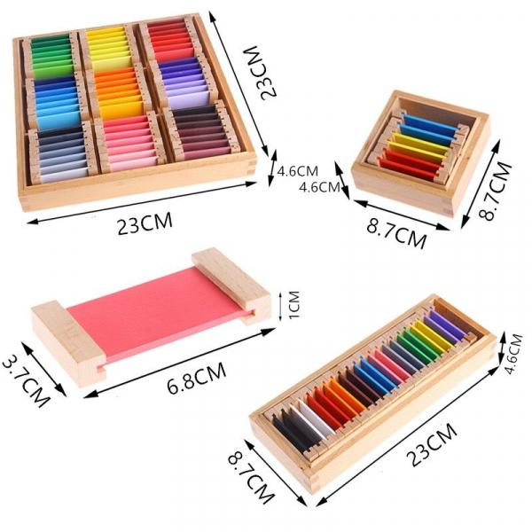 Cutie de Culori Montessori  din Lemn - Tablete Multicolore 8