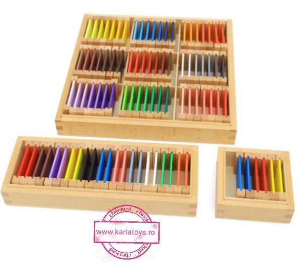 Cutie de Culori Montessori  din Lemn - Tablete Multicolore 0