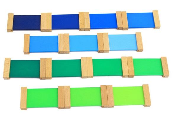 Cutie de Culori Montessori  din Lemn - Tablete Multicolore 7