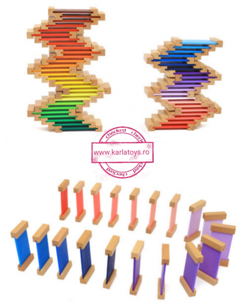 Cutie de Culori Montessori  din Lemn - Tablete Multicolore 5