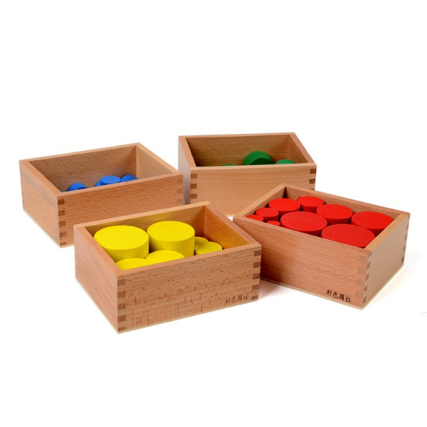 Joc Lemn Montessori Cilindrii Knobless - Joc de Lemn Educatie Montessori 1