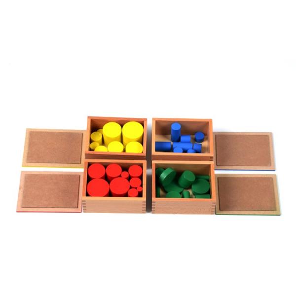Joc Lemn Montessori Cilindrii Knobless - Joc de Lemn Educatie Montessori 4
